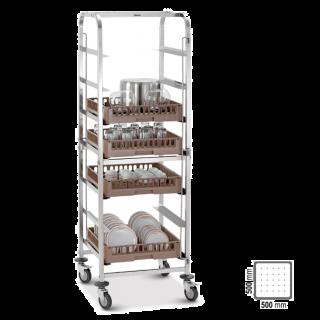Καρότσι μεταφοράς  για καλάθια πλυσίματος 56,5x55,5x175εκ AF-300147