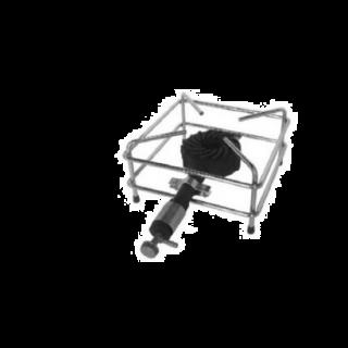 Εστία αερίου χρωμίου V-301D  300X300X160mm
