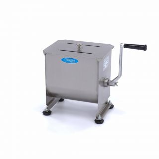 Επαγγελματικό ζυμωτήριο κρεάτων χειροκίνητο επιτραπέζιο ενός άξονα 10 λιτρων 30χ20χ31εκ MAX-09300440