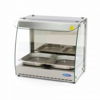 Επαγγελματική ηλεκτρική βιτρίνα θερμαινόμενη επιτραπέζια 2ΧGN 1/2  56Χ44Χ52 εκ MAX-09400570