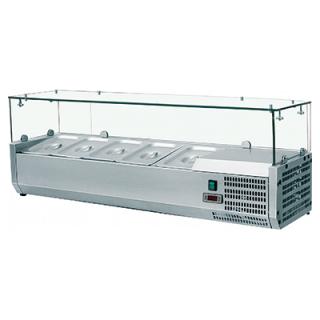 Βιτρίνα Σαλατών VRX Setup 120 cm για 5 λεκανάκια GN 1/4 120x33,5x43,5 εκ VNT-401234
