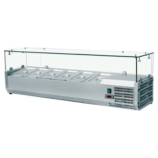 Βιτρίνα Σαλατών VRX Setup 140 cm για 6 λεκανάκια GN 1/4 140x33,5x43,5 εκ VNT-401434