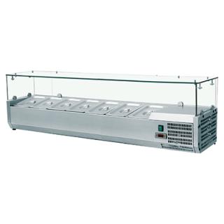 Βιτρίνα Σαλατών VRX Setup 160 cm για 7 λεκανάκια GN 1/4 160x33,5x43,5 εκ  VNT-401634