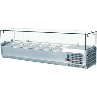 Βιτρίνα Σαλατών VRX Setup 160 cm για 7 λεκανάκια GN 1/3 160x39,5x43,5 εκ VNT-401638