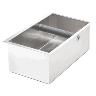 Inox κουτί για υπολλείματα καφέ espresso Stalgast  26.5x16.2x10.2 εκ  VS-486014