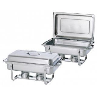 Επιτραπέζια Bain Marie (chafing dish) σετ 2 τεμαχίων 610x355x300 AF-500486
