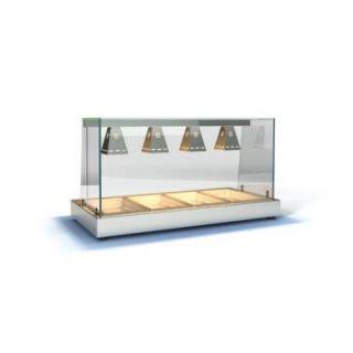 Θερμαντικό επιτραπέζιο HOTCON για 2 GN 1/1 75x65x75 εκ  ID-HOTK2GN1/1