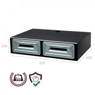 Συρταριέρα διπλή για μηχανή espresso Coffee cube AC279 850Χ600Χ200
