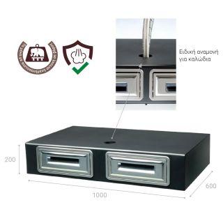 Συρταριέρα διπλή για μηχανή espresso Coffee cube AC379 100Χ600Χ200