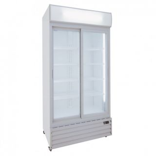 Ψυγείο αναψυκτικών με 2 συρόμενες πόρτες συντήρηση Λευκό113x70x202,3 εκ ΑF-CL1100V2GW
