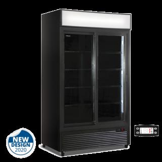 Ψυγείο αναψυκτικών με 2 συρόμενες πόρτες συντήρηση Μαύρο 133x70x202 εκ ΑF-CL1100 V2G B