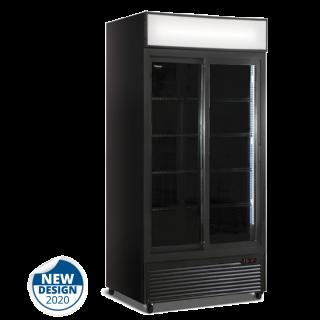 Ψυγείο αναψυκτικών με 2 συρόμενες πόρτες συντηρηση Μαύρο 94x61,5x198,3 εκ ΑF-CL801V2GB