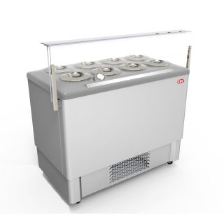 Pozetti βιτρίνα χύμα παγωτού  118,4X68,4X127 εκ  CRL-FESTIVAL INOX -8
