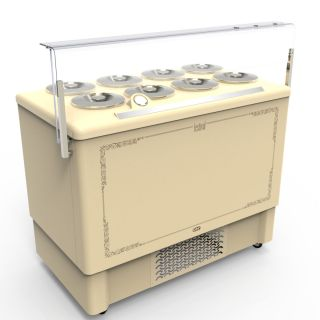 Pozetti βιτρίνα χύμα παγωτού  118,4X68,4X127 εκ CRL-FESTIVAL-8
