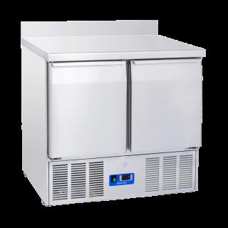 Ανοξείδωτο επαγγελματικό ψυγείο πάγκος συντήρηση 2 πόρτες ΤΟΙΧΟΥ CH-CRA 90Α ENERGY CLASS B  90x70X88/98 εκ