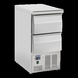 Ανοξείδωτο επαγγελματικό ψυγείο πάγκος συντήρηση 2 ΣΥΡΤΑΡΙΑ  CH-CRD45A  45x70X89 εκ ENERGY CLASS D