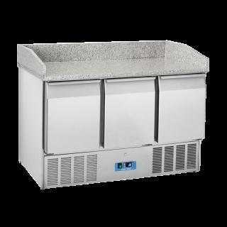 Ανοξείδωτο επαγγελματικό ψυγείο πάγκος συντήρηση 3 πόρτες ΜΕ ΓΡΑΝΙΤΗ  CH-CRM93Α  136,5x70X102 εκ