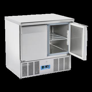Ανοξείδωτο επαγγελματικό ψυγείο πάγκος συντήρηση 2 πόρτες CH-CRX 90Α ENERGY CLASS C  90x70X88 εκ