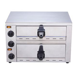 Επαγγελματικός Φούρνος Πίτσας Διπλός επιτραπέζιος EP60 BakePro 49X38X33 εκ VNT-EP60