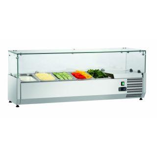 Ψυγείο σαλατών επιτραπέζιο για GN1/4 120x34x44 εκ FM-SAL1200-33