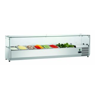 Ψυγείο σαλατών επιτραπέζιο για GN 1/4 180x34x44 εκ  FM-SAL1800-33