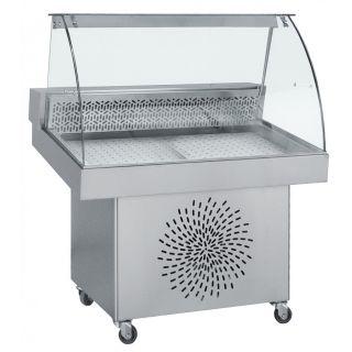 Ψυγείο βιτρίνα ψαριέρα επιδαπέδια 150χ85χ125 εκ BM-FO150