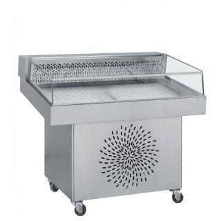 Ψυγείο βιτρίνα ψαριέρα επιδαπέδια 110χ85χ97 εκ BM-FS110