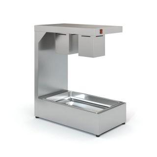 Επαγγελματικό Θερμαντικό Τροφίμων μονό  Inox HOTCON TZ- H35 για 1 GN 1/1  35X60X80 εκ