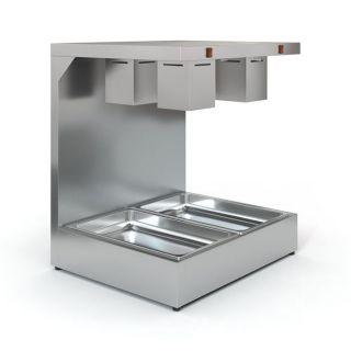 Επαγγελματικό Θερμαντικό Τροφίμων μονό Inox HOTCON TZ- H70 για 2 GN 1/1 70X60X80 εκ