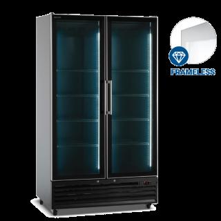 Ψυγείο  συντηρηση με 2 περιστρεφόμενες πόρτες Μαύρο 113x72x202 εκ ICOOL110B
