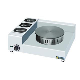 Επαγγελματική κρεπιέρα Ηλεκτρική μονή επιτραπέζια SER-KEL1X35 68x57x21 εκ