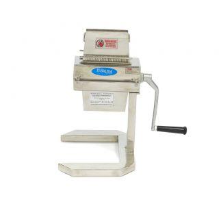 Επαγγελματική επιτραπέζια σνιτζελομηχανή χειροκίνητη 27 x 2 - 125 χιλ 24,5χ32χ43,5 εκ MAX-09368100