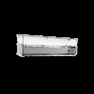 Ψυγείο σαλατών επιτραπέζιο για 7 GN 1/4 157X34X45 εκ  NK-SAPI157T