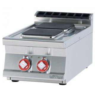 Εστία επιτραπέζια διπλή ηλεκτρική PCQT-74ET 400x705x280