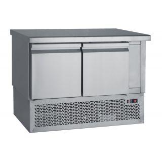 Ψυγείο πάγκος συντήρηση με 2 πόρτες & μηχανή κάτω 110Χ70Χ85 εκ BM-PG110