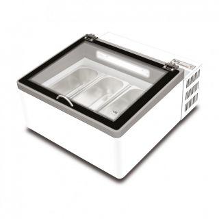 Βιτρίνα Παγωτού 3 γεύσεων επιτραπέζια POP 60  68x76x38,2 εκ AF-POP 60