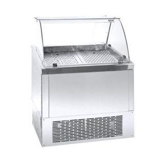 Ψυγείο Βιτρίνα Ψαριέρα επιδαπέδια  με αποθήκη 89X70X120 εκ NK-PSGN089KG
