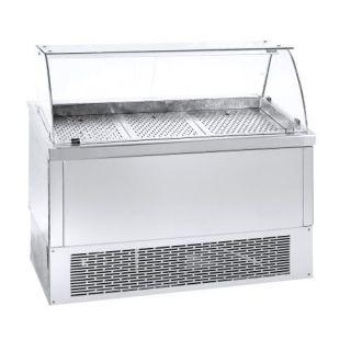 Ψυγείο Βιτρίνα Ψαριέρα επιδαπέδια  με αποθήκη 134X70X120 εκ NK-PSGN134KG