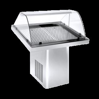 Ψυγείο Βιτρίνα Ψαριέρα επιδαπέδια  144x90x120 εκ NK-PSKO144M