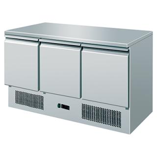 Πάγκος Ψυγείο Συντήρησης Inox 135,6Χ70Χ87 & μοτέρ κάτω εκ VS-310903
