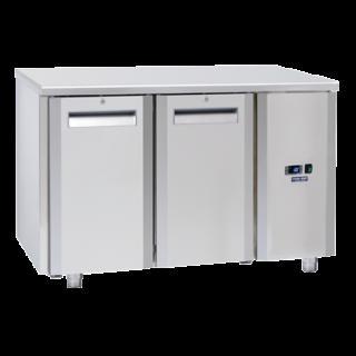 Ανοξείδωτο επαγγελματικό ψυγείο πάγκος συντήρηση ΧΩΡΙΣ ΜΗΧΑΝΗ CH-QR2100SG  138x70X85 εκ