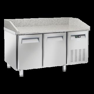 Ψυγείο πίτσας επαγγελματικό συντήρηση με γρανίτη  με 2 πόρτες ανοξείδωτο CH-QZ20  150X80X104 εκ ENERGY CLASS C