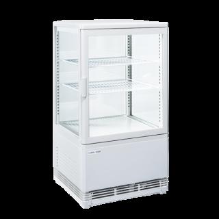 Επαγγελματική βιτρίνα πλαστικοποιημένη συντήρηση λευκή επιτραπέζια CH-RC58W 42,8X38,6X81 εκ ENERGY CLASS B