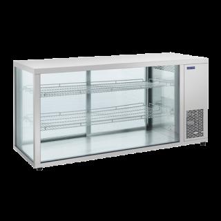 Επαγγελματική βιτρίνα INOX συντήρηση επιτραπέζια CH-RC980  144Χ52,4Χ70 εκ ENERGY CLASS D