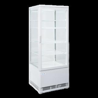 Επαγγελματική βιτρίνα πλαστικοποιημένη συντήρηση λευκή επιτραπέζια CH-RC98 42,8X38,6X111 εκ ENERGY CLASS C