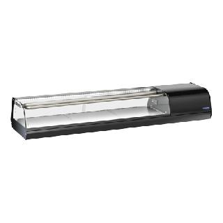 Επαγγελματική βιτρίνα πλαστικοποιημένη SUSHI συντήρηση επιτραπέζια CH-RS60 144,7X38,7X24 εκ