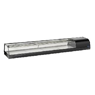 Επαγγελματική βιτρίνα πλαστικοποιημένη SUSHI συντήρηση επιτραπέζια CH-RS80 179,7X38,7X24 εκ