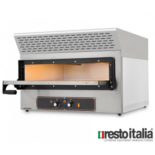 Επαγγελματικός Φούρνος Πίτσας συν καπέλο με φίλτρα Ενεργού Άνθρακα Resto Italia RST-KUBE-1EVO 74x60/74x41 εκ