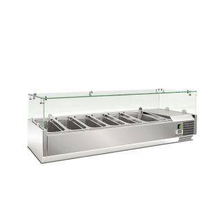 Ψυγείο σαλατών επιτραπέζιο για 5 GN 1/3 1500x395x225(427) εκ AF-RWX1500