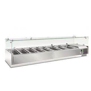 Ψυγείο σαλατών επιτραπέζιο για 8 GN 1/3 1800x395x225(427) εκ AF-RWX1800